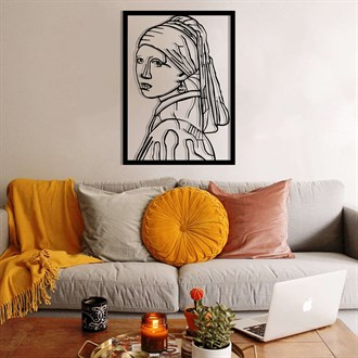 Girl With a Pearl Earring Metal Duvar Dekoru