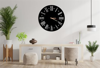 Roman Numerals Metal Wall Clock